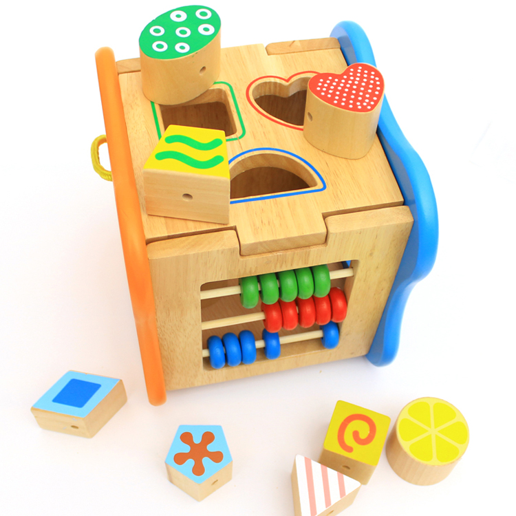 Chanycore bébé apprentissage jouets éducatifs en bois forme géométrique blocs boîte perles horloge tri correspondant ww Montessori cadeaux 4106 - 3