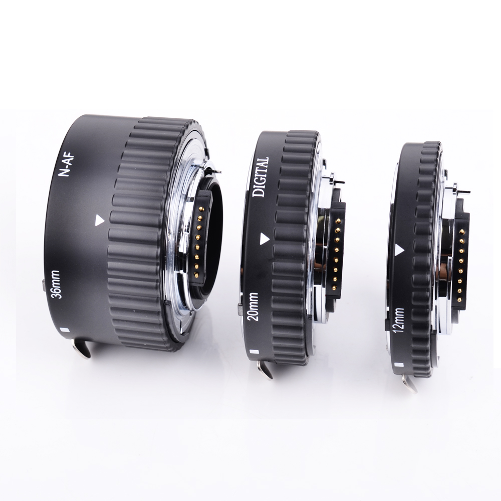 Meike Auto Focus Metal AF Macro Extension Tube Set for Nikon D7100 D7000 D5100 D5300 D3100