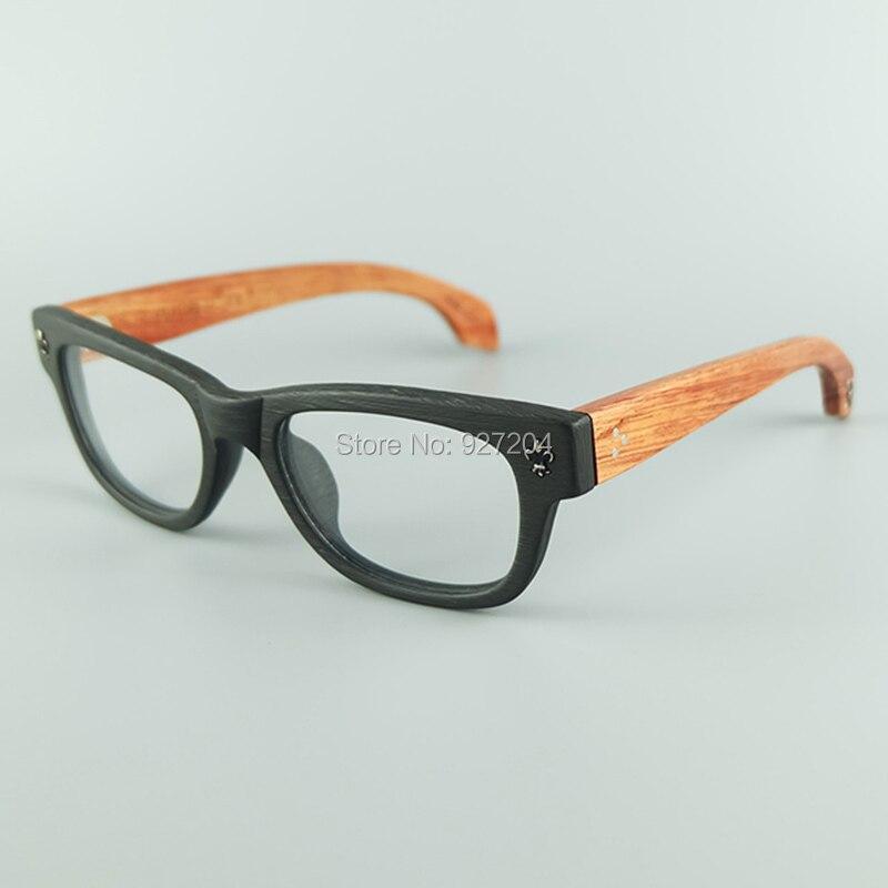 Acogedor gafas mejor calidad acetato Marcos natural Rosewood piernas ...