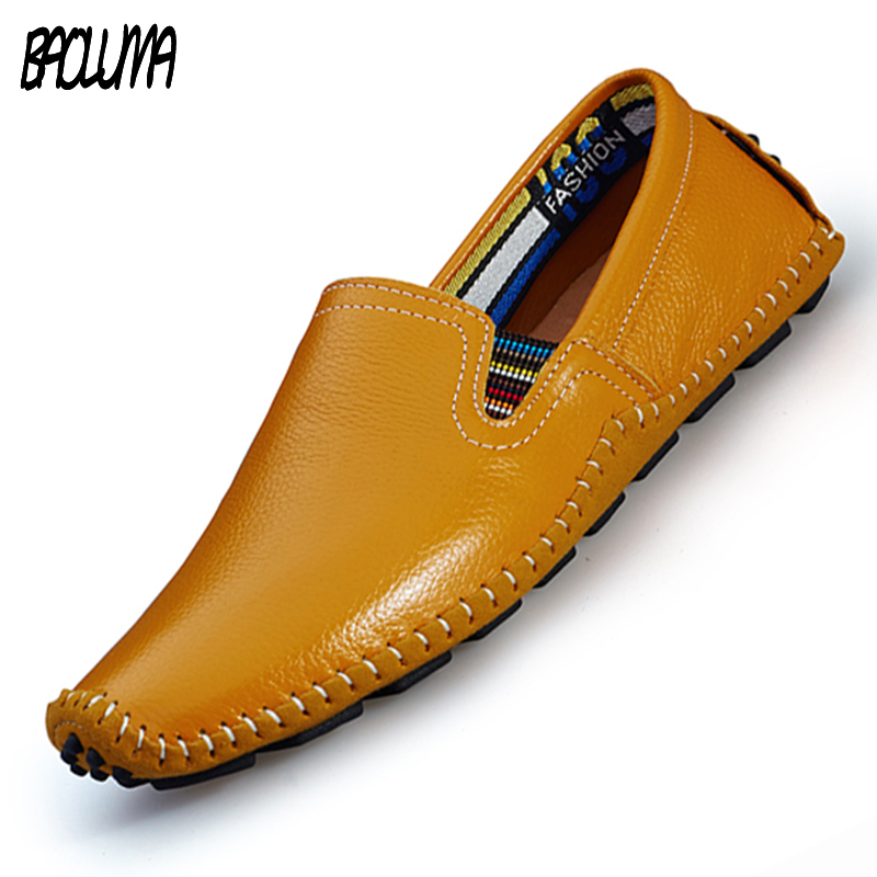 Mens Designer Shoes Real Leather Mens Brand Shoe Spring Summer Breath Leather Luxury Driving Shoes Slip On Casual Male Loafers