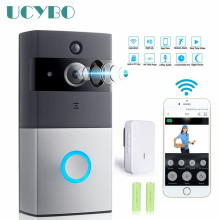 hot deal buy wifi video doorbell camera intercom system wireless home ip door bell phone chime w/ pir 2 way audio ios android battery powered