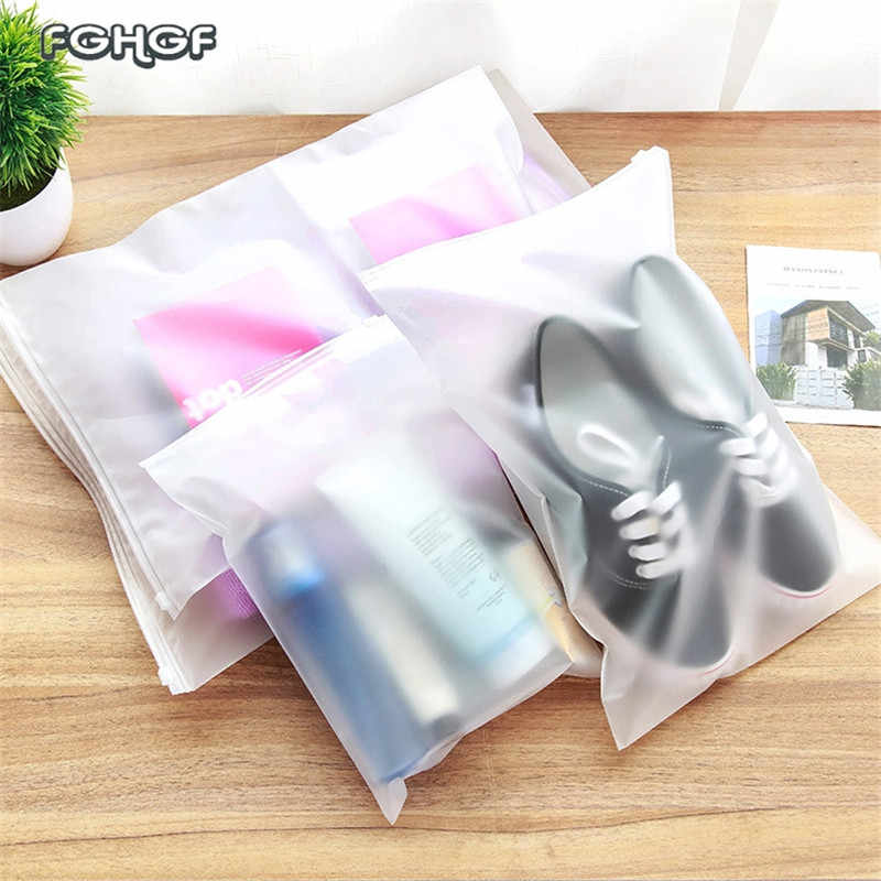 Plastic Storage Bag for Travel Make Up Baggage Bag Waterproof Shoes Bag for Cloth Transparent Zip Lock Storage Organizer Pouch