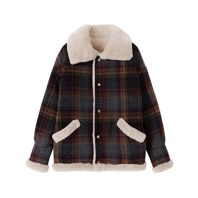 New Autumn bomber   jacket   Winter Thick Lambs Wool   Basic     Jacket   Women Corduroy Loose Coat Plus Size Cotton Warm Velvet Outerwear