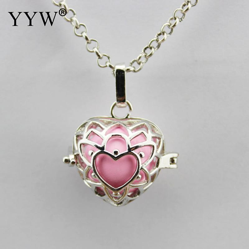Charm Necklace Copper Angel Ball Baby Bola Pendant For Pregnant Women Fashion Floating Locket top Heart Pendants