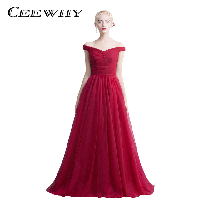c3f94765b9016 US $89.9  CEEWHY Boat Neck Mother of the Bride Dress Plus Size Evening  Dresses Long 2017 Prom Formal Dress Evening Gown Robe De Soiree-in Evening  ...