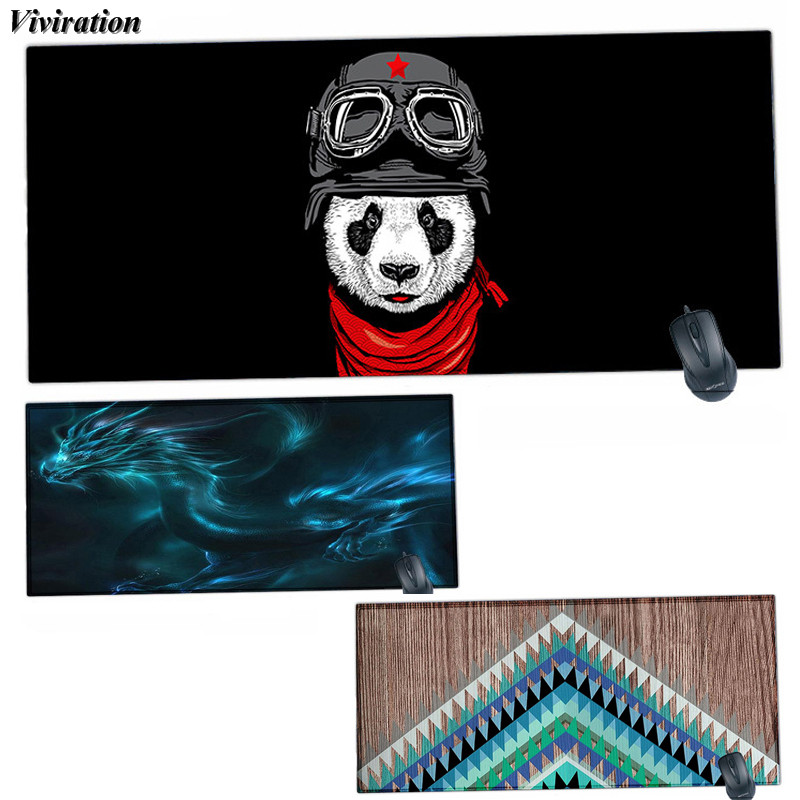 Large Locked Edge 900x400mm Computer Gaming Mouse Pad Viviration Rubber Anti-slip Mouse Pad Mat 2018 Fashion Brand New Mouse Mat