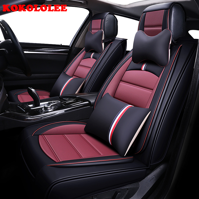 KOKOLOLEE car seat cover set for fiat punto fiat 500 stilo panda car seats protector car cushion Auto Interior styling