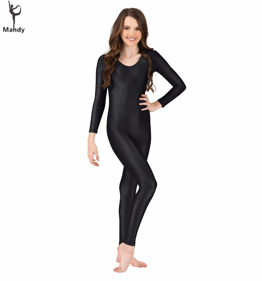 2f7056d7500 Lycra Spandex Bodysuit Full Bodysuit Unitard Women Zentai Suit Long Sleeve  Turtle Neck