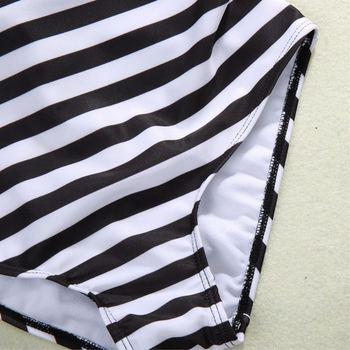 Sexy Women's Swimwear One Piece Swimsuit Monokini Striped Padded Bikini Bathing 2017 Hot Selling 5