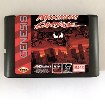 Top quality 16 bit Sega MD game Cartridge for Megadrive Genesis system --- Spider-Man and Venom -Maximum Carnage image