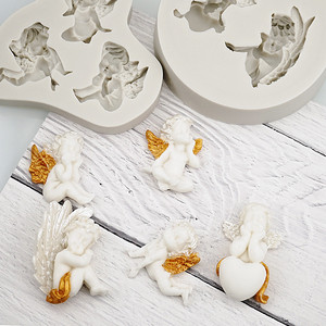 Image 2 - 3D Baby Angel Silicone Mold Fondant Mould Cake Decorating Tool Chocolate Gumpaste Mold Sugarcraft Kitchen Accessories Soap Mould