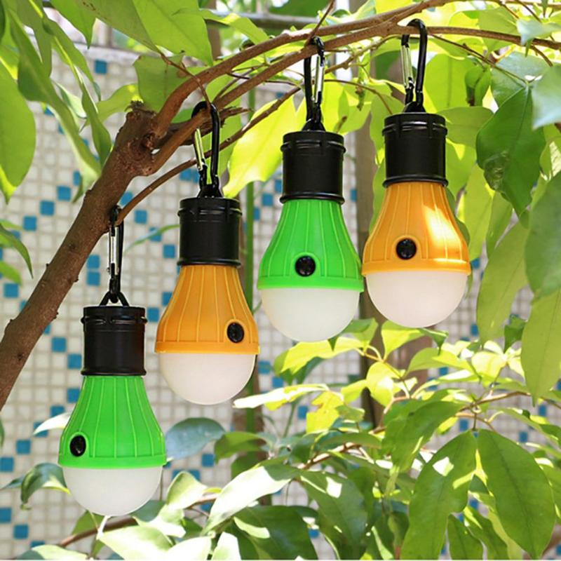 3LED Tent Hanging Lamp 3 Modes Outdoor SOS Emergency Carabiner Bulb Light