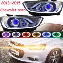 RHD LHD araba styling için chevrolet Aveo Far 2013 2014 2015 yıl DRL Bi Xenon Mercek HI LO HID Sis lambası Aveo Arka Lambası