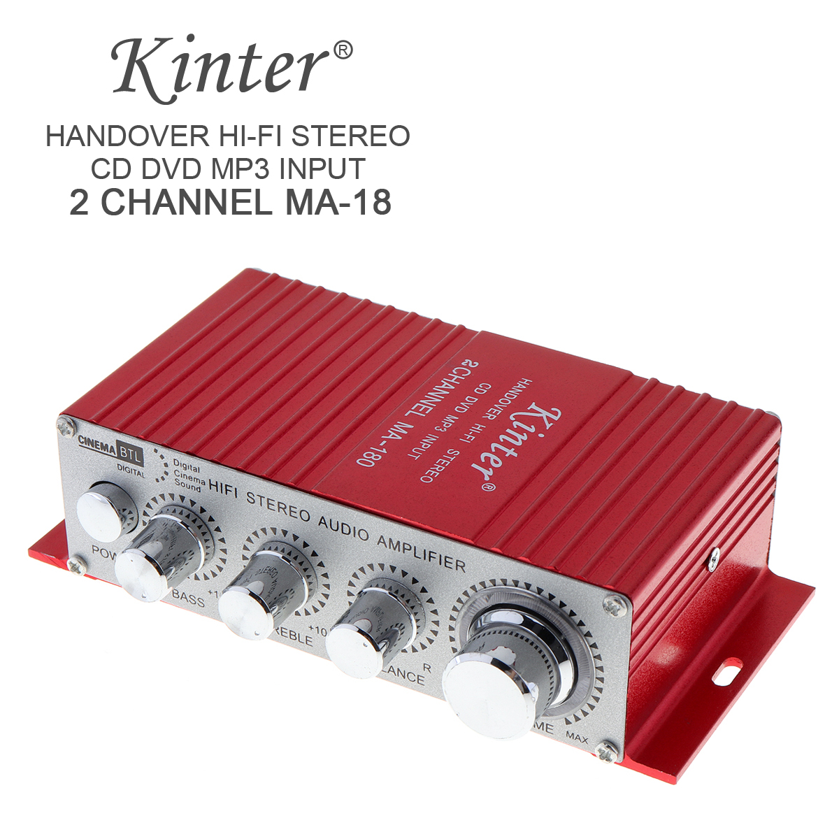 Audio Amplifier Red MA 180 Mini USB Car Amplifier Boat Audio Auto Power Amplifier 2CH Stereo HIFI Amp 12V for Car Motorycycle Stereo Amplifiers     - title=