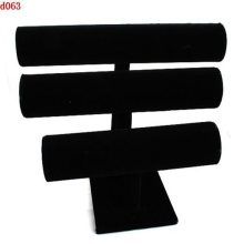 High Quality Black Velvet 3-Tier holder for Watch Bangle Bracelet Jewelry Display Holder Stand Rack Showcase Display