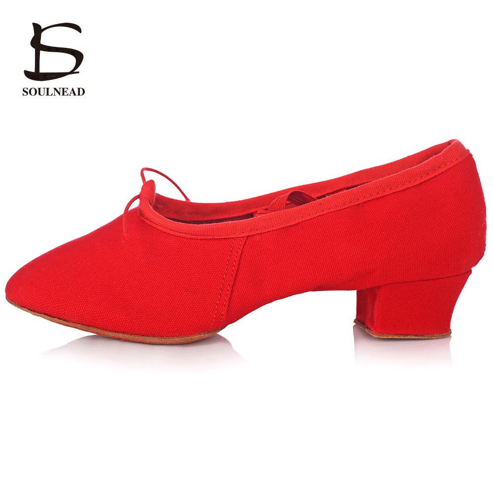Black Low Heel Dance Shoes
