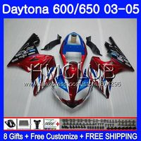 Body For Triumph Dark red blue Daytona600 Daytona 650 02 03 04 05 125HM.9 Daytona650 Daytona 600 2002 2003 2004 2005 Fairing kit
