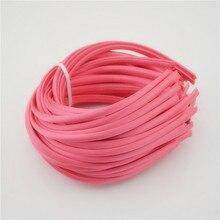 1 см, цветные Сатиновые повязки для волос из смолы, детские повязки на голову с лентой, Детские аксессуары для волос, 4 шт, 20 цветов s