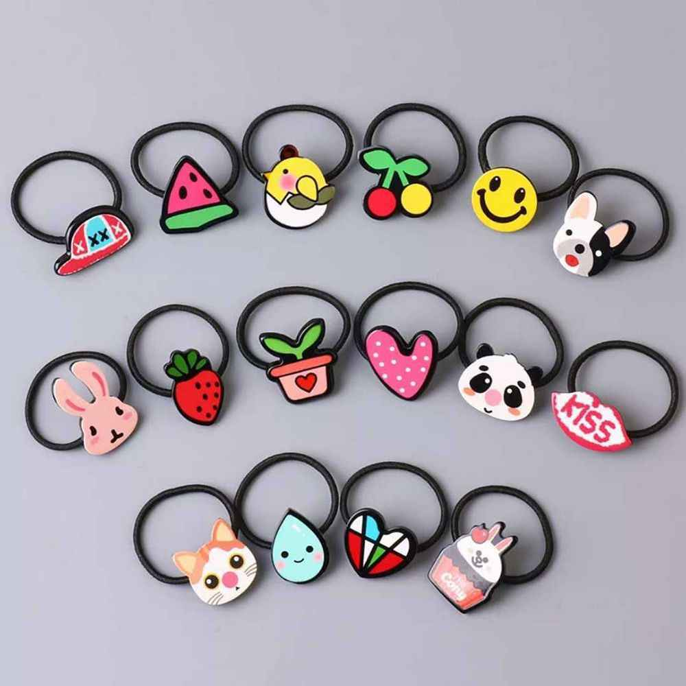 Acrylic Animal Rabbit Hairband Kids Heart Pattern Hair Braiders Accessories Girls Gift Mini Elastic Hair Rope Hair Styling Tools