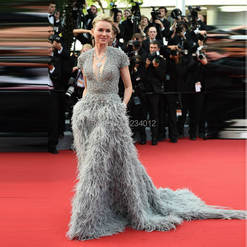 168th-cannes-Film-Festival-Luxury-Full-Feathers-Celebrity-dresses-naomi-watts-Formal-Gowns-V-Neck (7)