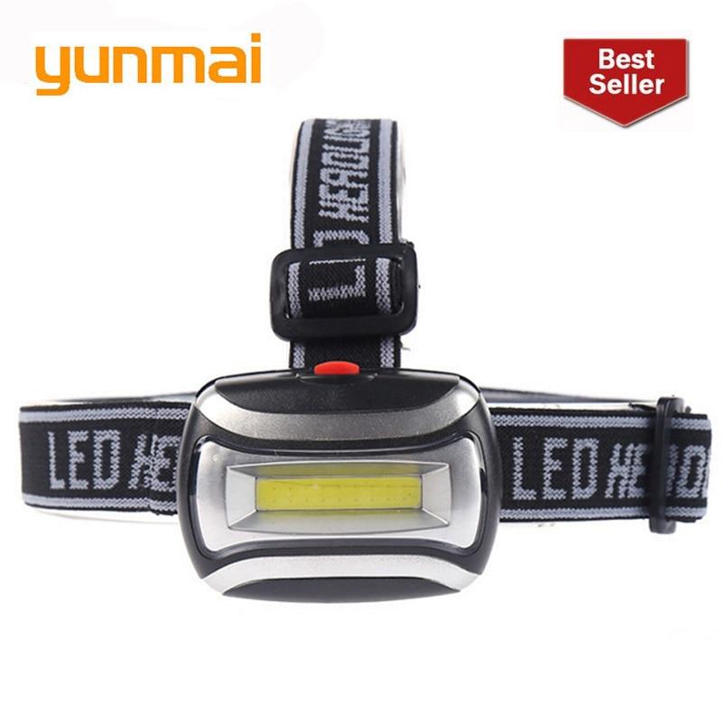 2019 Daily Life Mini Headlight COB LED Fishing/Camping/Riding Outdoor Lighting Head Lamp 3 Modes Led Cob Headlamp AAA Battery