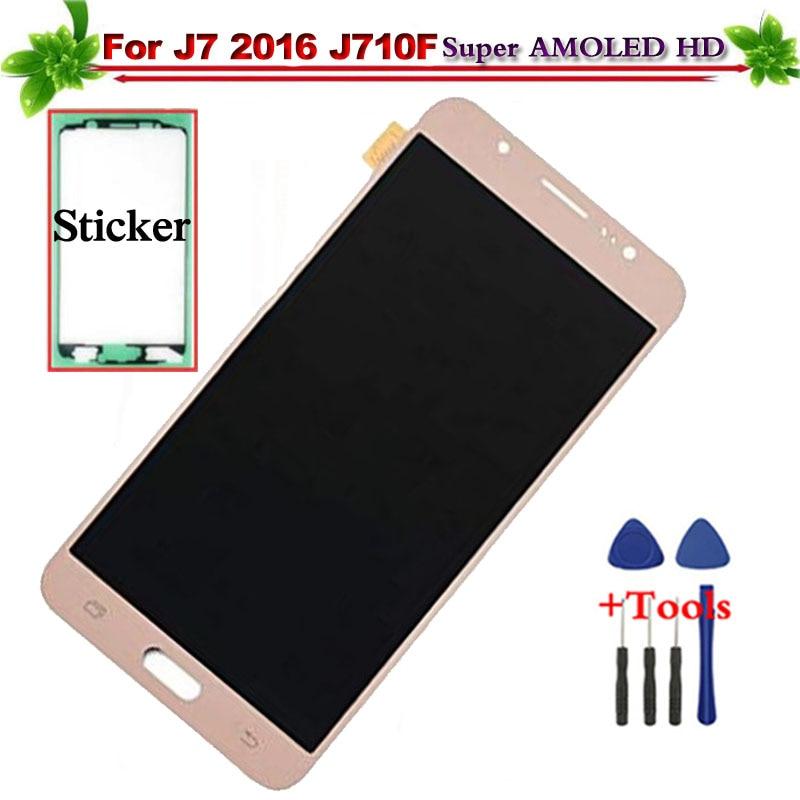 Super AMOLED pour Samsung Galaxy J7 2016 J710F J710M LCD écran tactile assemblée remplacement pour Galaxy J7 2016 LCD affichage