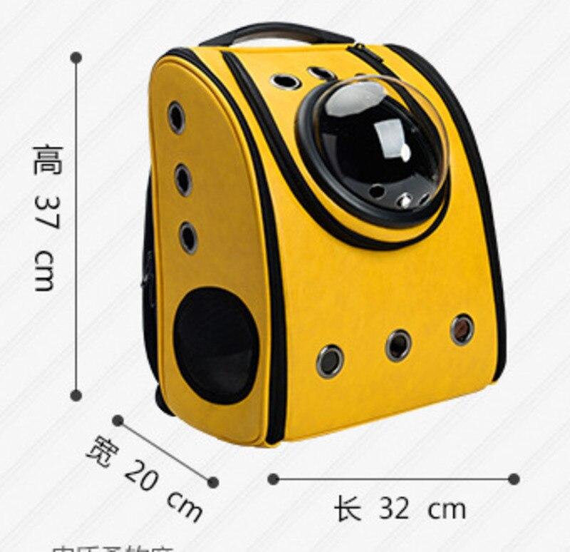 Portable en plein air oiseau sac à dos perroquet transporteurs Cage perroquet sac avec bois perche Pet respirant espace Capsule sac à dos CW080 - 6