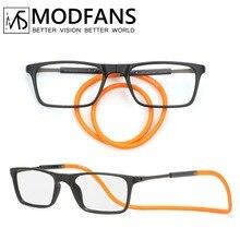 8ed2e5ba17 Gafas de lectura magnética plegable tr90 ajustable de alta calidad cuello  colgante imán gafas mujeres hombres gafas 1,0, 1,5