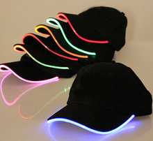 Cotton LED Baseball Cap Creative Fashion Sun Hat Luminous Flash Visor Cap Holiday Party Cheering Prop