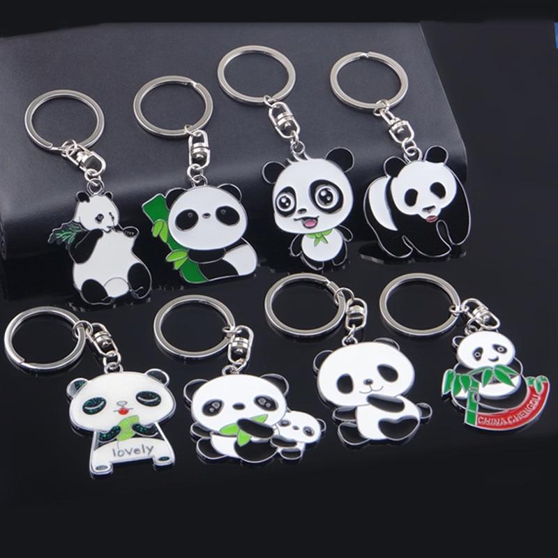 1PCS Lover Gift Panda Keyring Keyfob Valentine's Day Keychain Ring все цены