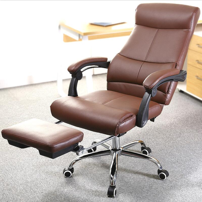 Comfortable Swivel Office Computer Chair Lifting Rotatable Foldable Footrest Bureaustoel Ergonomisch Silla Escritorio