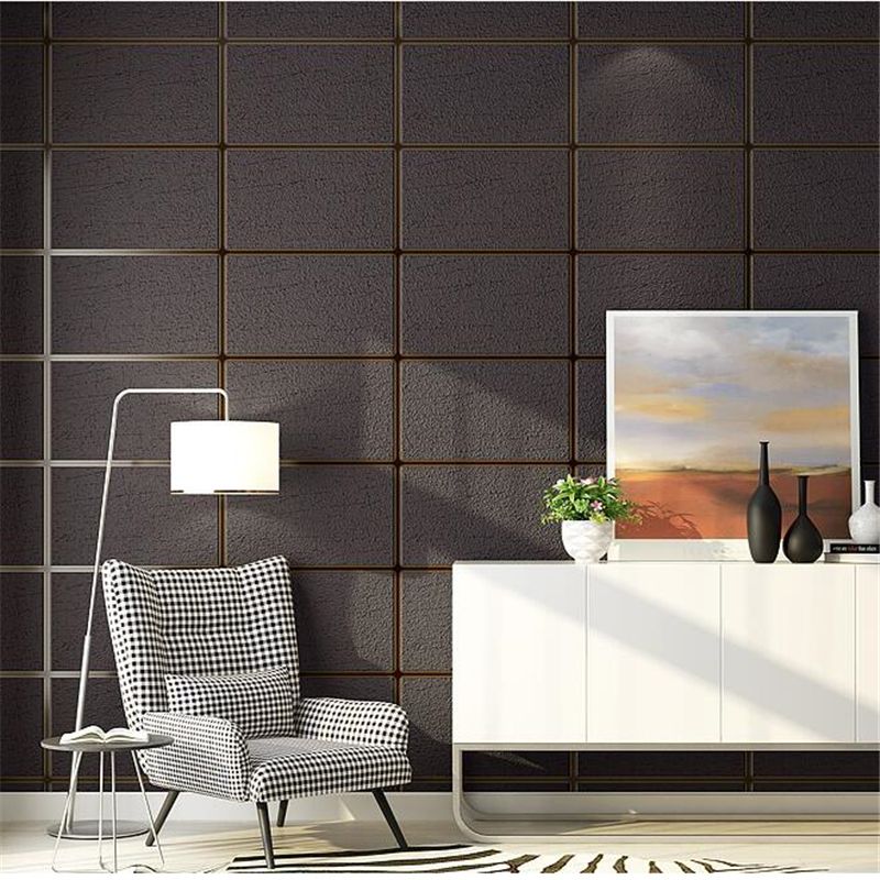 beibehang Checkered deerskin cashmere wallpaper modern minimalist living room non-woven wallpaper bedroom imitation soft pack 3D beibehang modern minimalist deerskin cashmere wallpaper 3d fashion thickened abstract geometric pattern nonwovens 3d wallpaper