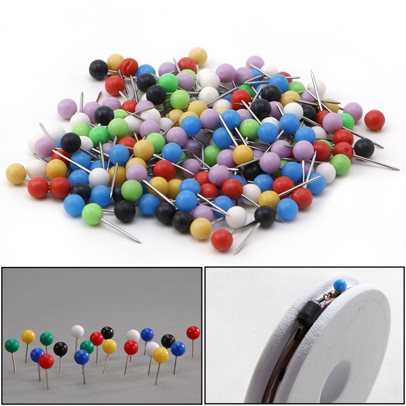 купить Toply200pcs Multi-Color Fishing Pin for Fasten Fishing Line Winder Reel Spool Tackle Fishing Accessories по цене 95.88 рублей