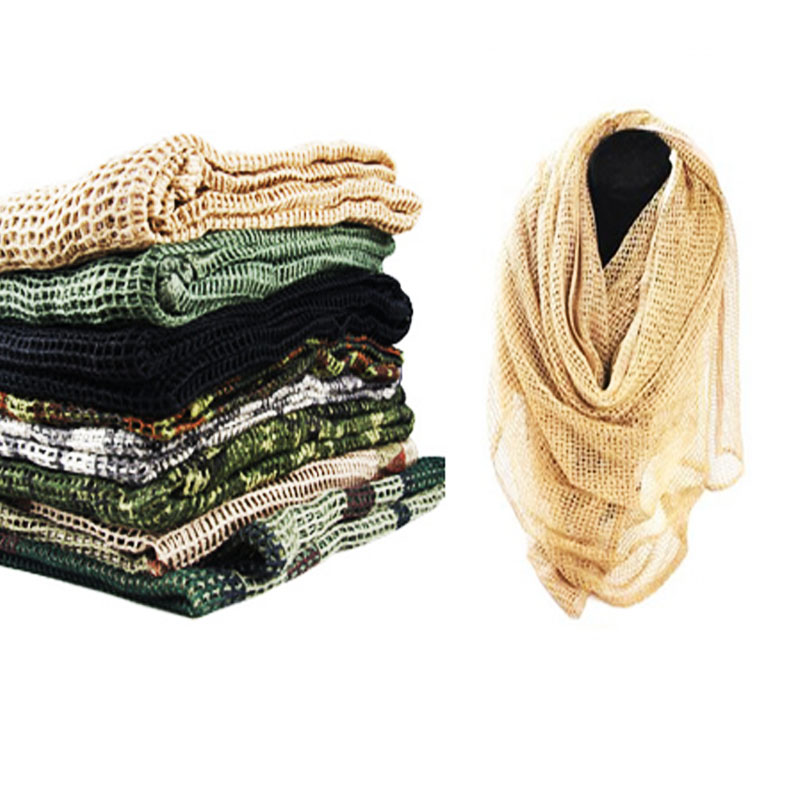 New Jungle Camouflage Men Mesh   Scarf   AutumnWarm Neck Army Muffler Scarfs Winter Mens Military Tactical camo Shawl   Scarves     Wrap