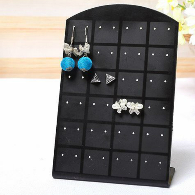 12 24 Pairs Jewelry Holder Organizer Plastic Ear Stud Earrings