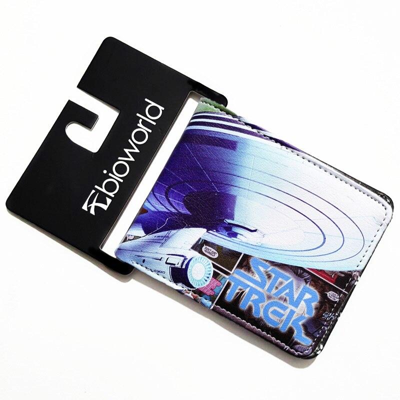 af42d42df07 Star Trek Cartão de Licença de Carteira Bi-Fold Carteiras Purse Crédito  Ostra Homem Carteira Meninos e Meninas Estudantes Bolsas Dólar preço