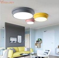 Vitrust Nordic LED Ceiling Lamps Lights Modern Kids Children Ceiling Lightings Corridor Remote Control Dimming Living