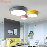 Vitrust Nordic LED Ceiling Lamps Lights Modern Kids Children Ceiling Lightings Corridor Remote Control Dimming Living Room Bed