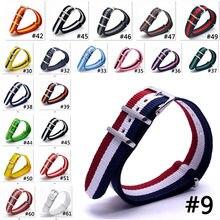 Ремешок нейлоновый для наручных часов брендовый армейский спортивный