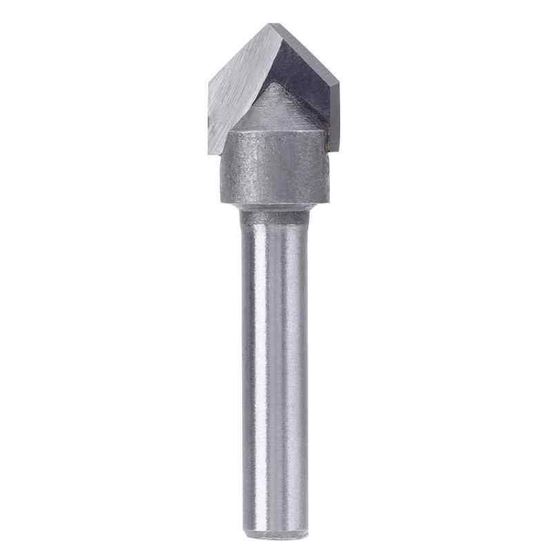 1/4 inch Shank 90 stopni V typ Groove Flush frez do przycinania Chuck przycinanie grawerowanie frez górne dolne łożysko stolarka
