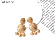 Statement Drop Earrings Hanging Dangle Metal Pendientes Fashion Trend Brincos Bijoux Hot Sale Accessories For Women цена