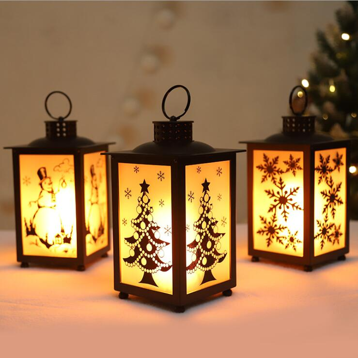 Christmas Gift Christmas LED Lantern Decoration Hanging Candlestick Best Gift Decoration Gift