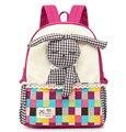 Mochilas escolares crianças ute coelho dos desenhos animados Da Lona Mochila anti perdido Backpack para meninos das meninas do bebê do miúdo do jardim de Infância Mochila Infantil