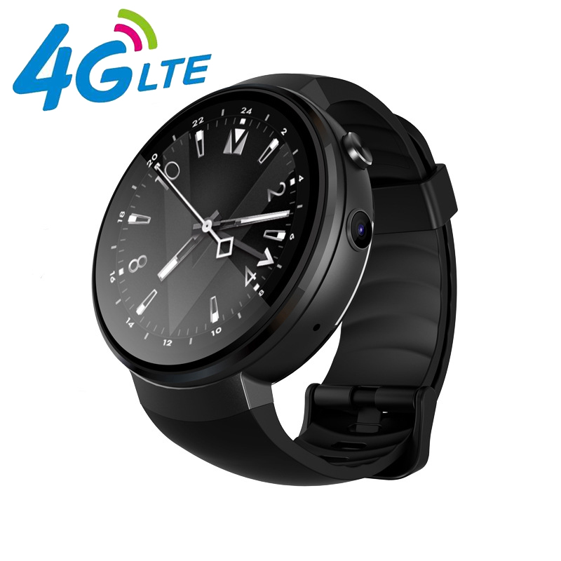 z28 smartwatch AMOLED 1+16GB MT6737M LTE-4G network android 7.0 GPS heart tracker smart electronic watch for men Sport running