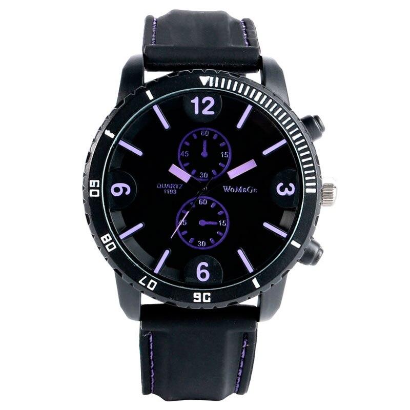 Purple Stylish Analog Trendy Stainless Steel Case Wri