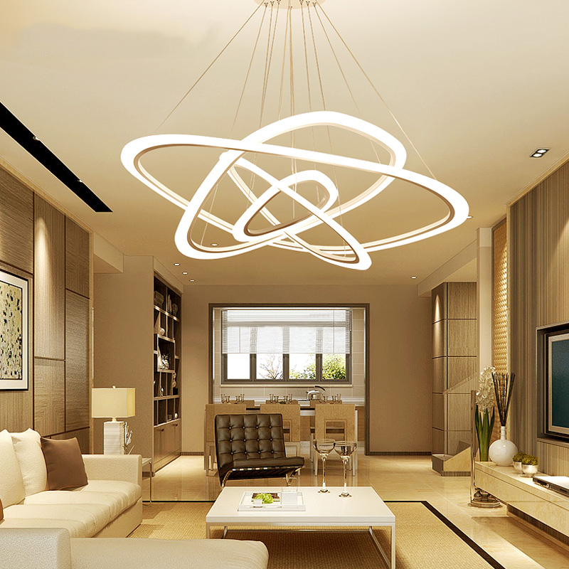 Modern LED Living Room Suspended Lamps Creative Bedroom Fixtures Nordic Dining Room Pendant Lights Restaurant Hanging