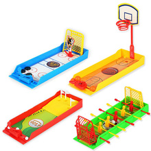 Funny mini desktop Ejection Basketball Contest Assembled Finger Toys Children Birthday Gifts Mini Football Hockey Golf Shooting