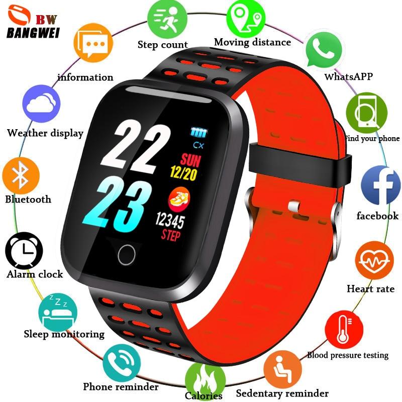 Gutherzig Bangwei Smart Uhr Frauen Herz Rate Blutdruck Monitor Led Smart Uhr Armbanduhr Fitness Tracker Pedometer Sport Uhr Box Uhren