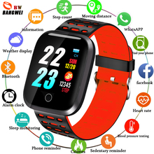 BANGWEI Smart Watch Women Heart Rate Blood Pressure Monitor LED Wristwatch Fitness tracker Pedometer Sport Watch+Box