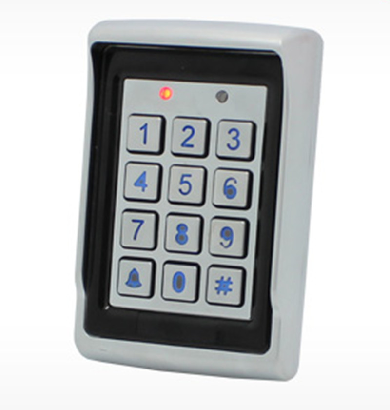 500User Password&ID Card Metal Access Control System With Backlid